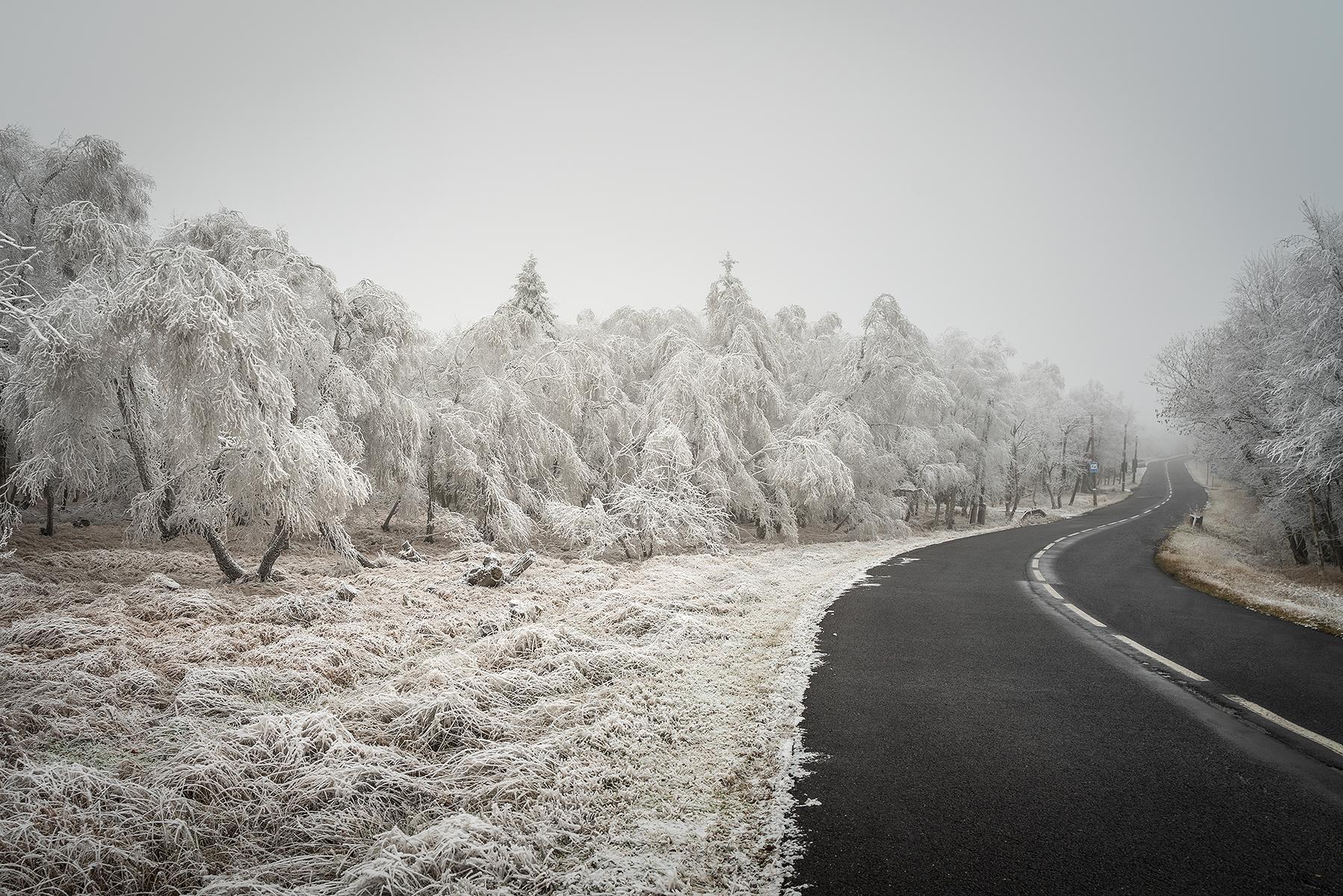 První sníh v Krušných horách