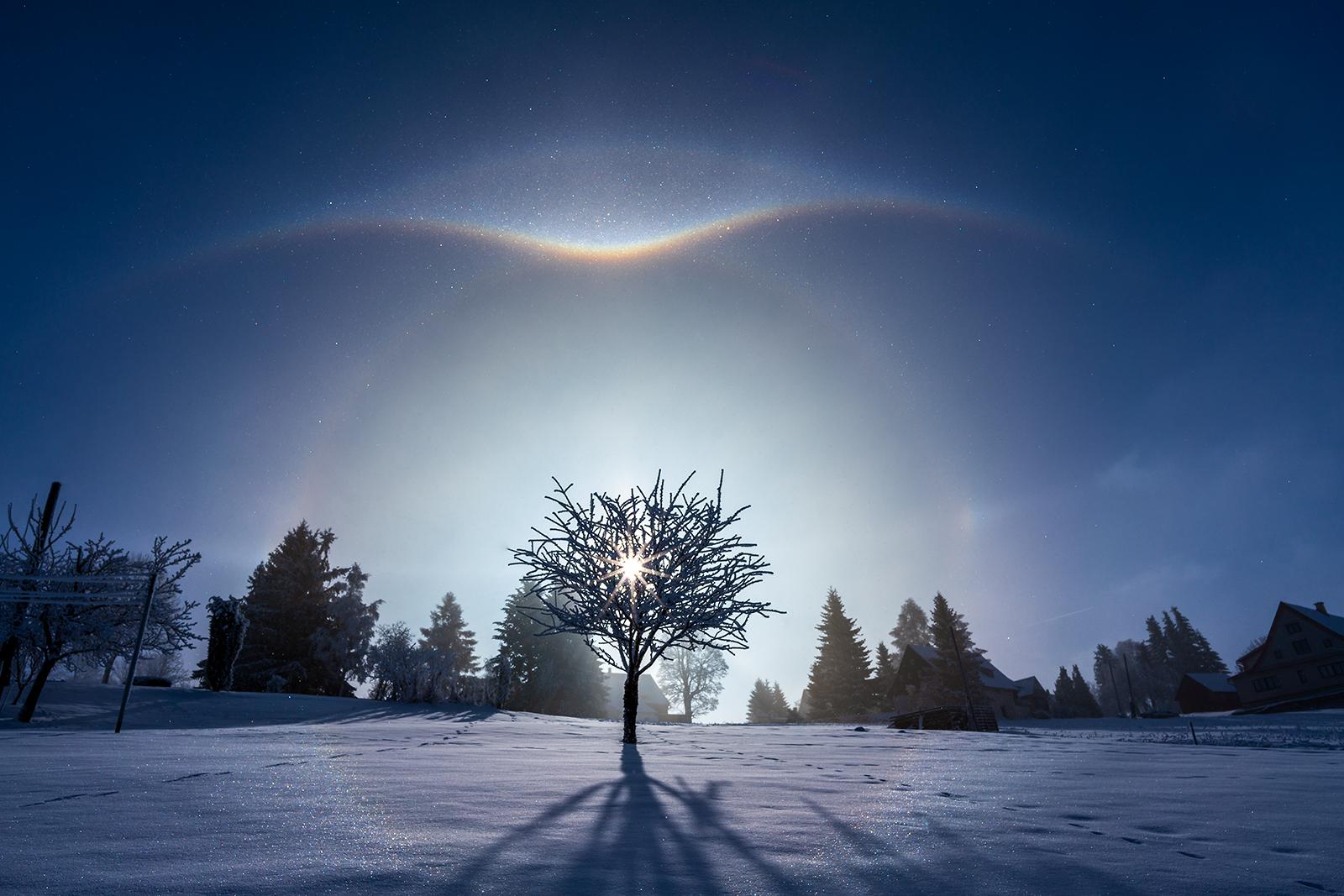 Halo efekt na sněhu